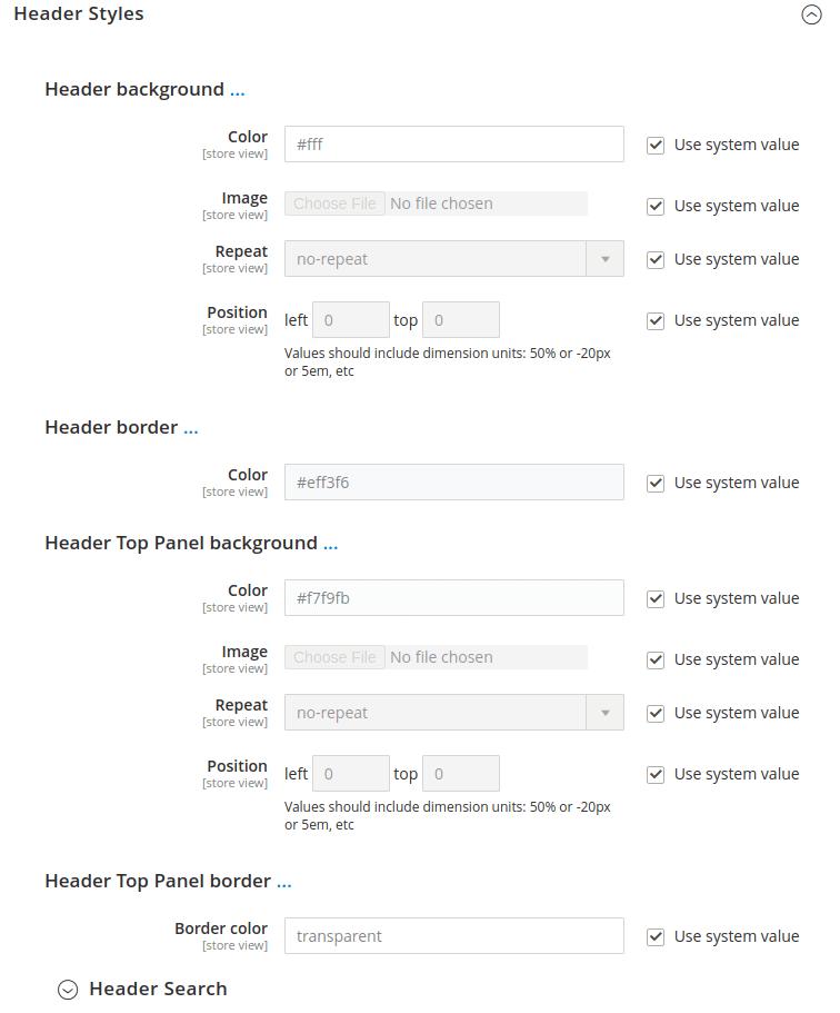 change magento 2 header layout