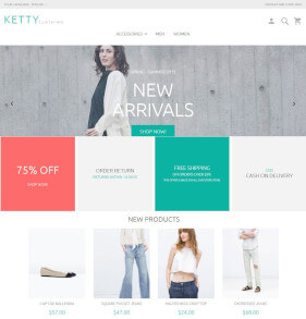 Free Magento Theme Ketty beta